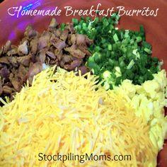 Homemade Breakfast Burritos - freezer method  http://www.stockpilingmoms.com/2010/09/how-to-make-cucumber-sandwiches/