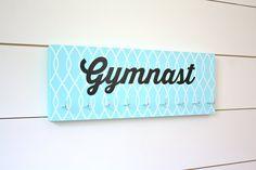 Gymnast Medal Holder / Display - Gymnastics with Pattern - Medium