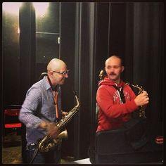 Lezioni di sax a Giorgio Verduci che smette la mazza