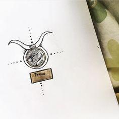 Taurus symbol tattoo