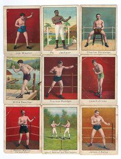 1910 Mecca cigarette boxing cards