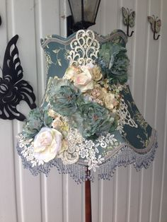 Custom made lampshade for an old style home