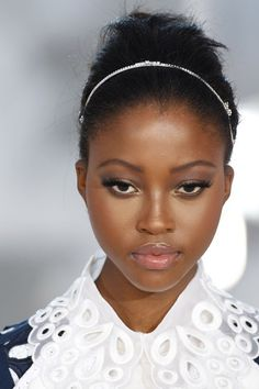 Fresh plums and pinks - wedding makeup for black/African American women