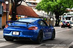 Porsche Cayman GT4 spotted in Coconut Grove, Florida
