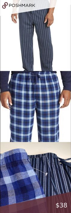 NWT INTIMO men sleepwear gray//red plaids//checks drawstring PAJAMA PANTS *S-XL