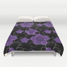 Purple Blooms Duvet Cover