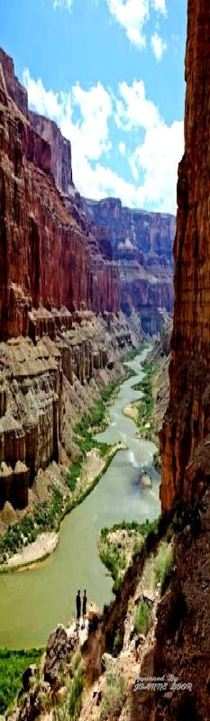 Colorado River, floating down on a tube, Grand Canyon National Park