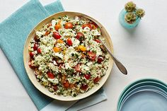 Herbed Rice With Tomatoes and Feta recipe