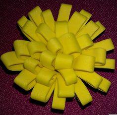 """bloemen maken uit """"foam papier"""""""