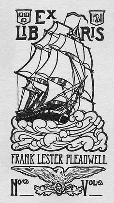 ex libris bookplate - Frank Lester Pleadwell