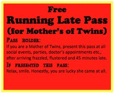 I used to always be minutes early. Now I'm always late Twin Girls, Twin Sisters, Twin Quotes, Twin Humor, Future Mom, Identical Twins, Unique Baby Shower, How To Have Twins, Double Trouble