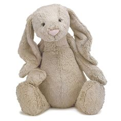 The Bashful Bunny from the JellyCat range is super cute. This beautiful plush bunny is gorgeous with its long soft beige ears and pink bunny nose. So soft and cuddly, this bashful beige bunny would make a beautiful cot companion for a new baby! Plush Animals, Stuffed Animals, Dinosaur Stuffed Animal, Stuffed Toys, Bunny Plush, Bunny Bunny, Bunny Rabbits, Baby Bunnies, Animals