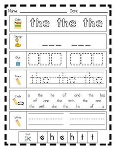 Are you tired of word work that takes your students 5 minutes to complete? In my classroom, I was hearing I'm finished! way too soon so I created some word work printables that were a little more rigorous. Teaching Sight Words, Sight Words List, Sight Word Practice, Sight Word Activities, Kindergarten Literacy, Literacy Centers, Literacy Stations, Early Literacy, Ingles Kids