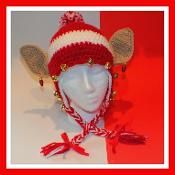 Free Crazy Christmas Elf Hat Pattern© - via @Craftsy