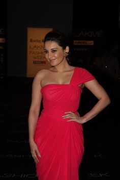 Minissha Lamba at Day 2 of Lakme Fashion Week 2013.