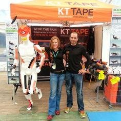 John & Maureen from KT Tape Belux (www.kt-belux.be) at the EcoTrail Brussels expo