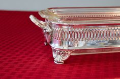 Silver Plate Loaf Pan and Stand  Fire King 1 Quart by PearlsParlor