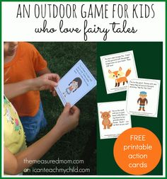 outdoor game for kids who love fairy tales i can teach my child An Outdoor Game for Kids who Love Fairy Tales (with printable action cards) Fairy Tale Activities, Activities For Kids, Action Games For Kids, Drama Games For Kids, Drama Activities, Preschool Themes, Indoor Activities, Fractured Fairy Tales, Fairy Tales Unit