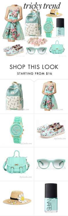 """""""Summer Flower Set!"""" by bygoods ❤ liked on Polyvore featuring J.Crew, Kate Spade, NARS Cosmetics, Accessorize, TrickyTrend and culottes"""
