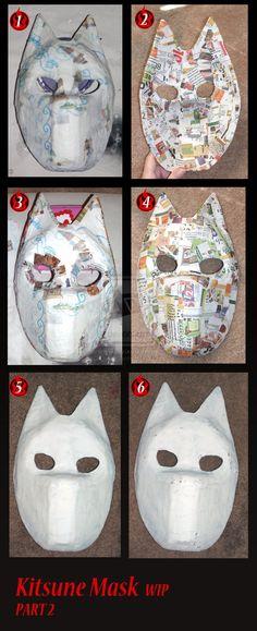 Kitsune mask WIP part 2  Artist DreamingZenko: http://dreamingzenko.deviantart.com/