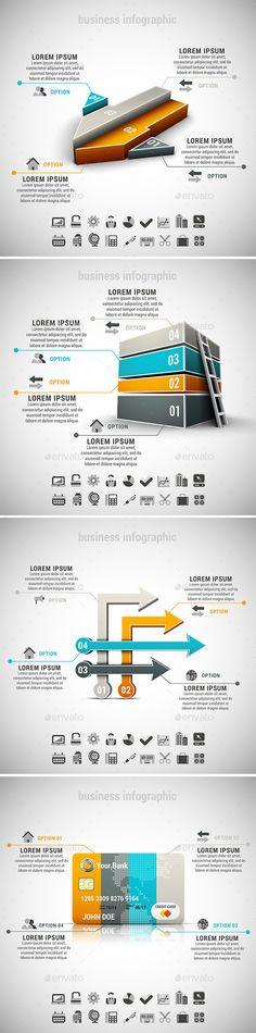 4 in 1 Business Infographics Bundle Template #design Download: http://graphicriver.net/item/4-in-1-business-infographics-bundle/10902429?ref=ksioks