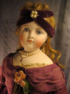 """Gorgeous ~ 22"""" Antique ~ """"Turned Head"""" Fashion Doll ~ Great Antique Clothing 