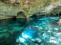 """メキシコ カンクンの""""グランセノーテ(聖なる泉) メキシコ湾とカリブ海の間に突き出ているユカタン半島。 中南米に3世紀から17世紀末にかけて栄えたマヤ文明の遺跡が数多く残されている神秘的な場所です。 歴史の偉大さ、自然の美しさと脅威、そして古代文明に触れることのできるこの地は、世界中の考古学者や観光客を魅了し続けています。"""