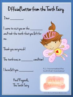 18 best tooth fairy certificate images on pinterest tooth fairy a selection of free printable tooth fairy letter templates that can be personalized for your child maxwellsz