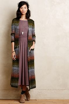 Jersey Midi Dress with sweater - anthropologie.com
