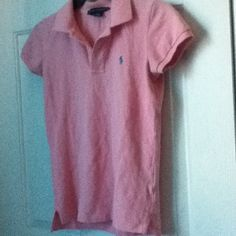 ✨Last Chance✨ Ralph Lauren Pink Polo New and never worn. In perfect condition. Size S/XS. I have a blue one also. Ralph Lauren Tops