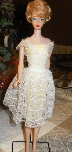 "Vintage Bubble Cut Barbie in ""Orange Blossom"" She is beautiful - looks like a ""white ginger"" color - that has oxidized over time."