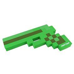 "8 Bit Pixelated Zombie Slayer Green Foam Gun Toy 10"" by EnderToys"