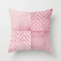 dusty pink chevron Throw Pillow by ingz - $20.00