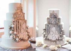 wedding cake with framed detailing