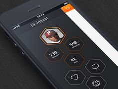 App designed by Jonas Goth. Connect with them on Dribbble; Ux Design, News Web Design, Flat Design, Smartphone, Application Iphone, Applications Mobiles, Tablet Ui, Mobile Ui Design, Ui Design Inspiration