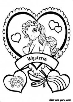 Printable my little pony wysteria coloring pictures - Printable Coloring Pages For Kids