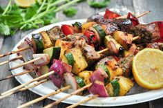 Tuna Kabobs with Pineapple Glaze