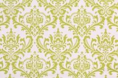 4.8 Yards Premier Prints Madison Printed Cotton Drapery Fabric in Chartreuse