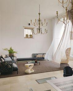 Il living della casa in Puglia