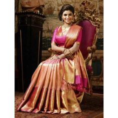 Pure Jari Kanjivaram silkBLOUSE Full Heavy Weaving and Antique Finish Big Borde