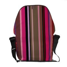 Cute multi colorful abstract lines design bag courier bags