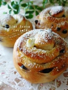 「●ブルーベリーフロマージュロール。」ChococoHS   お菓子・パンのレシピや作り方【corecle*コレクル】