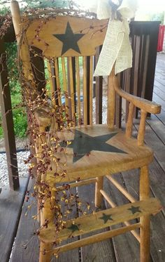 Antique high chair - I have one of these stored away.  Now I know what to do with it!