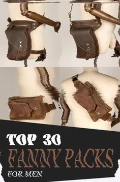 Fanny packs also provide plenty of benefits and advantages. Just like what we've mentioned earlier, they are lightweight, meaning easy to carry! Leather Bum Bags, Leather Fanny Pack, Tan Leather, One Shoulder Backpack, Side Bags, Denim Bag, Waist Pack, Crossbody Bag, Mens Fashion