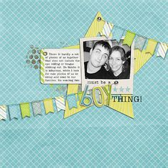 layout by Theresa using Bright Boy Digital Scrapbooking Kit by Simple Girl Scraps