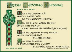 Irish Wedding Traditions.  If I can get my husband to do a vow renewal,  I might use these.