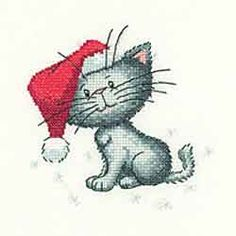 Santa Paws - Cats Rule! Cross Stitch Kit by Heritage Crafts