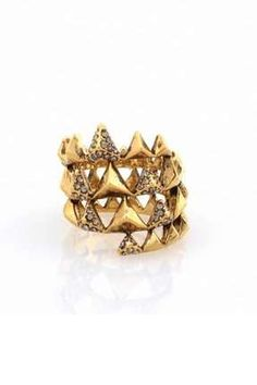 The 'House of Harlow' Pyramid Wrap Ring is the Perfect Accessory trendhunter.com