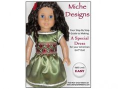Miche Designs Special Dress Pattern for American Girl ® Dolls | Liberty Jane Doll Clothes Patterns For American Girl Dolls $3.99