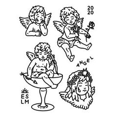 VALENCIA 1 espacio disponible / Valencia 1 slot free // I'll be working next october at @fivemoths.studio 💦 #eslm #egosumluxmundi… Dream Tattoos, Mini Tattoos, Small Tattoos, Cupid Tattoo, Cherub Tattoo, Snake And Flowers Tattoo, Tatuaje Old School, Sketch Tattoo Design, Angel Drawing